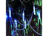 """Гирлянда электрическая 3м,19LED,с насадками """"Конус с пузырьками"""" BW(бело-синий),авторежимы220В"""