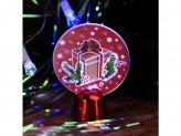 Светильник LED Голография Подарок, h-11см, (от батареек)