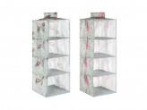 VETTA Прованс Кофр подвесной на штангу, 4 секции, спанбонд влагостойкий, 30x30x80см, 2 дизайна