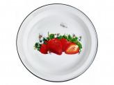 Блюдо 2,0л эмалированый с рисунком