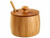 Банка для специй с ложкой бамбук 4,7x9см №6