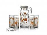 Набор 5 предметов кувшин 1,3л 4 стакана ORANGE SERENAD