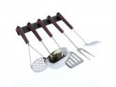 Набор кухонных принадлежностей 5 предметов с пласм. подв. пластиковой ручкой