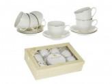 Набор чайный 12 предметов 6 чашек 6 блюдец тонк 220мл ПРЯМ.Шелк ГРАЦИЯ