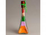 Сувенир декоративная бутылка c солью цветной №40