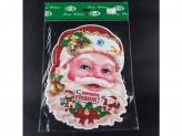 Наклейка новогодняя бумажная дед мороз 37см