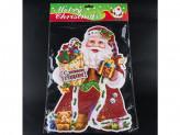 Наклейка новогодняя бумажная дед мороз 57см