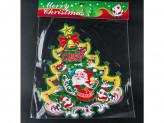 Наклейка новогодняя бумажная елка 37см