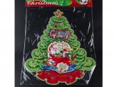 Наклейка новогодняя бумажная елка 57см