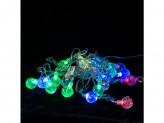 Гирлянда 20 ламп новогодняя 4м шарики 220v