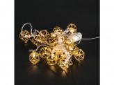 Гирлянда 16 ламп новогодняя 4 м 220v желтая