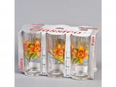 Набор стаканов 6шт акварельные цветы 250мл наб.