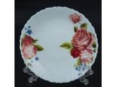 """Тарелка стеклокерамика обеденная 7,5"""" d-20 роза f4 упаковка 6 шт."""