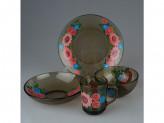 Набор столовый стекло дымка 24 предмета на 6 персон basilico кадриль 62152