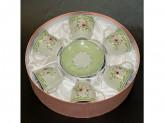 Набор чайный 12 предметов 220мл фарфор, подарочная упаковка YK 1704
