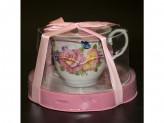 Набор чайный 2 предмета 220мл фарфор, подарочная упаковка pvc YKG 32