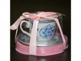 Набор чайный 2 предмета 220мл фарфор, подарочная упаковка pvc YK 18а22