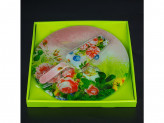 Набор для торта, стекло 2 предмета d 30 s3012-2pdq-s104
