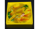 Набор для торта, стекло 2 предмета d 25 s3010-2pdq-r090