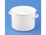 Кастрюля 4,5л цилиндрическая белая 01-1615