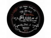 Блюдо круглое 32,3x2,4см для пиццы FRIENDS TIME черный N2176