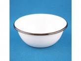 Миска 1,0л эмалированый белая 01-0307