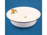 Миска 4,0л эмалированый белая с рис