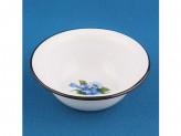Миска 0,6л эмалированый серо-голубая с рис