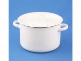 Кастрюля 3,0л цилиндрическая белая 01-1612