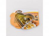 Форма для печенья на листе 5шт сердце