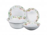 """Набор столовой посуды 19 предметов, опаловое стекло, """"Серсея"""""""