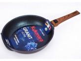 """Сковорода KUKMARA """"Granit Ultra"""" Blue сгг262а со съемной ручкой 26см"""