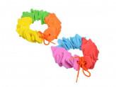 Шнуровка в виде геометрических фигур/цветов, ЭВА, 15х17см, 2 дизайна