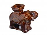 Аромалампа керамическая,  Слон коричневый, керамика, 18, 5x14, 5x8, 5 см