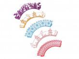 Набор декора для кап-кейков, 5 шт, 5,5х5х8см, картон, ассортимент цветов