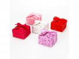 Коробка подарочная, складная, бумага, полиэстер, 8,5х8,5х5,5 см, 5 цветов