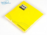 Салфетка 12 шт. бумажная 3-х слойная 33х33 см Желтая SA-2