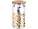 Банка стеклянная 1.0л для сыпучих продуктов Mallony CORONA с крышкой 004454