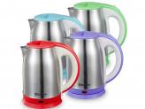 Чайник электрический sa-2147p 1.8 нерж фиолет д