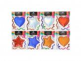 LADECOR Наклейка декоративная с фольгир.слоем, бабл эффект, в виде звезд и сердец, 23х15 см, 8 видов