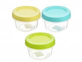 Банка для хранения продуктов пластиковая с завинчивающейся крышкой 0, 3 л, 3 цвета