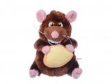 Мышь с сыром плюшевая, 19см,