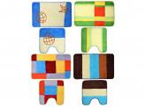 Набор ковриков 2шт для ванной и туалета, акрил, 50x80см + 50x50см, 4 дизайна