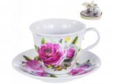 """Набор чайный  из 2 предметов  (1 чашка+1 блюдце) 250мл ПУ Сердце """"ФЛОРА"""""""