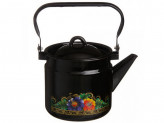 """Чайник 2,0л эм черный с рисунком   """"ВОЛОГДА"""""""