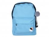 Рюкзак 40x30x20 см с брелком, 1 отделение, уплотненные лямки, голубой