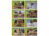 "Конструктор ""Армия"" мини фигурки солдат, 25-30деталей , пластик, 10х7х3см, 8 дизайнов"