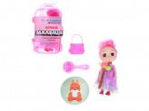 Кукла с аксессуарами в чемоданчике, пластик, полиэстер, 14х8, 5х5см, 3 дизайна