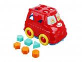 "Сортер-микроавтобус ""Три кота"", пластик, 22х14х16см, 2 дизайна"