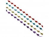 Бусы декоративные СНОУ БУМ 200 см, свензелями, 4 цвета
